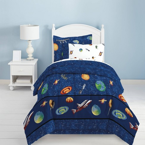 Outer Space Mini Bed in a Bag Blue - Dream Factory - image 1 of 3