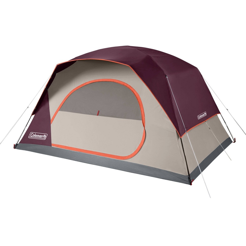 Coleman Skydome 8 Person Blackberry Tent Maroon