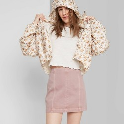 Women's Seamed Denim Mini Skirt - Wild Fable™ Rose
