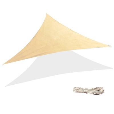 10' x 10' Triangle Sun Shade Sail - Beige - Backyard Expressions