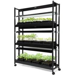 LED Grow Light Stand, Heavy Duty 3-Tier With Plant Trays - Gardener's Supply Company