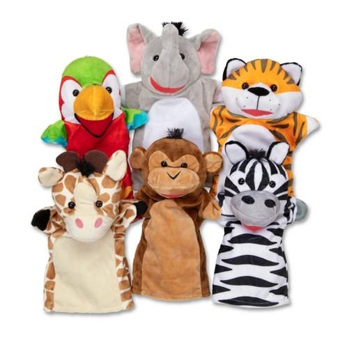 Melissa & Doug Safari Buddies Hand Puppets - image 1 of 4