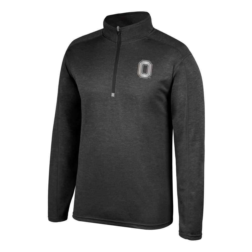 Ohio State Buckeyes Men's Long Sleeve 1/2 Zip Pullover Sweatshirt - L, Black