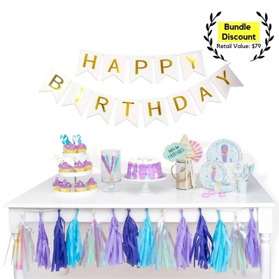 156pc Mermaid Party Supplies Great Value Ultimate Kit