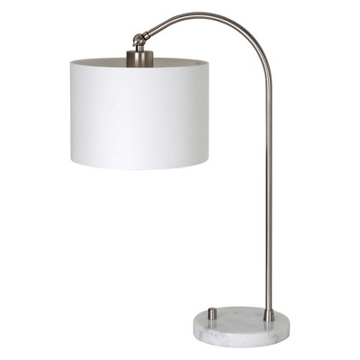 Nickel Arc Task Table Lamp Marble Base White - Project 62™