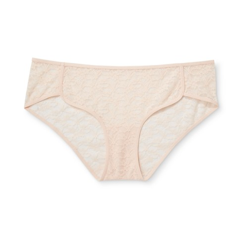 eed84d243f84 Women's Lace Dolphin Hipster - Xhilaration™ Feather Peach - XS : Target