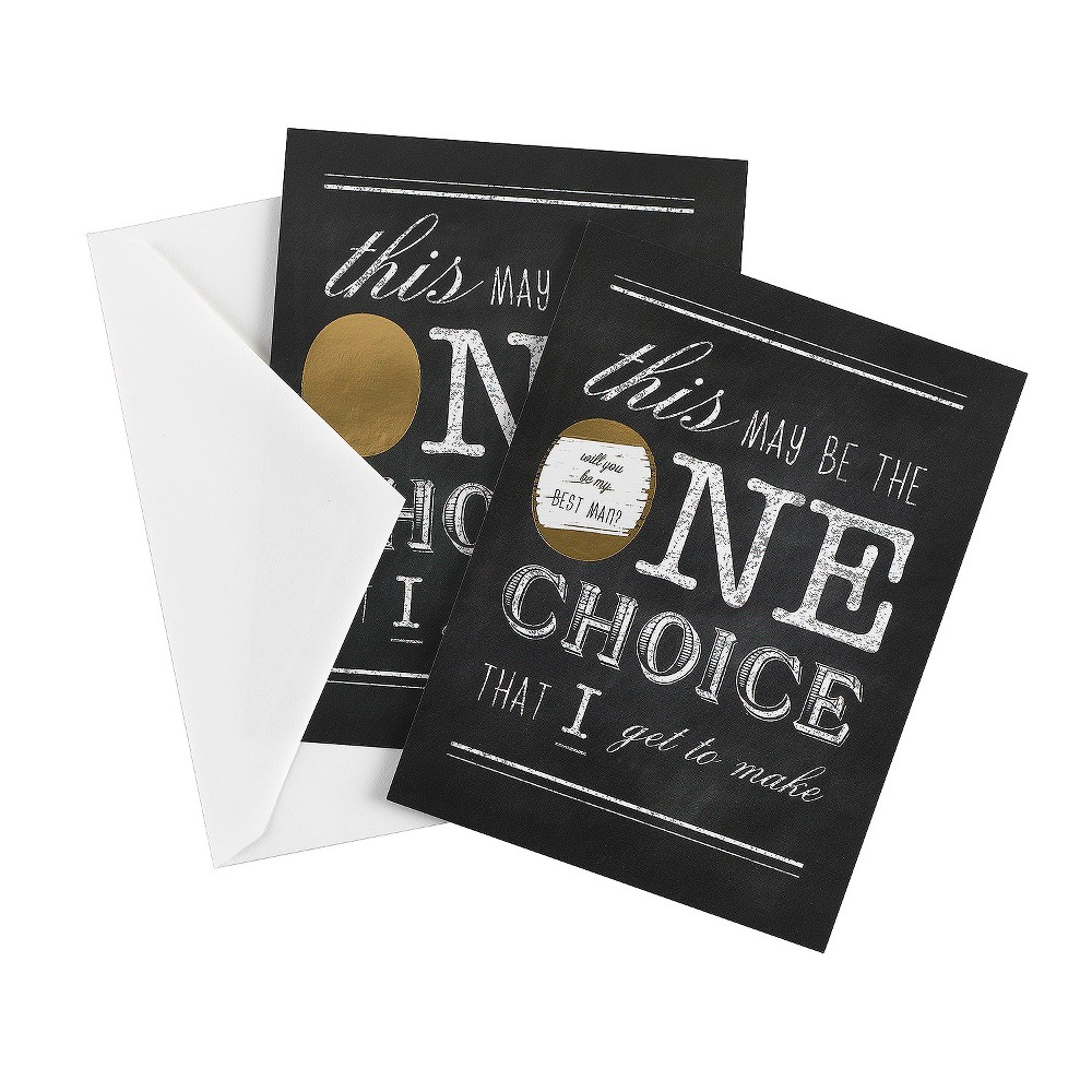 One Choice Scratch Off Card Best Man, Multicolored
