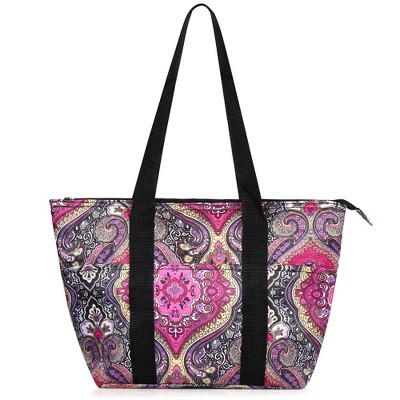 """Zodaca Insulated Leak Resistant Lunch Tote Double Handles Carry Zip Closure Bag (Size: 15""""L x 5""""W x 10""""H)"""