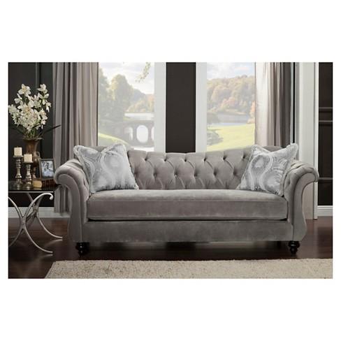 Alexandria Victorian Sofa Gray Furniture Of America