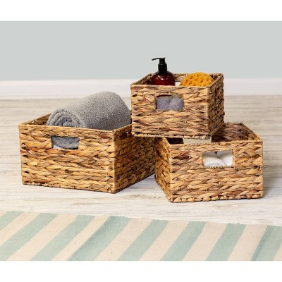 Honey-Can-Do 3pc Nesting Natural Baskets