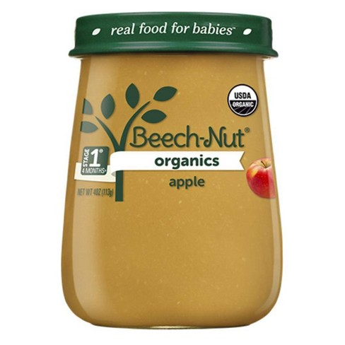 Beech-Nut Organics Apples Baby Food Jar - 4oz - image 1 of 3