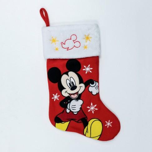 Christmas Stockings Cartoon.Disney Mickey Mouse Christmas Stocking Red