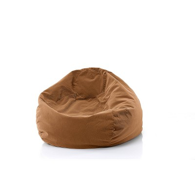 Gold Medal Kids' Micro-Fiber Suede Bean Bag Chair Desert - Gold Metal