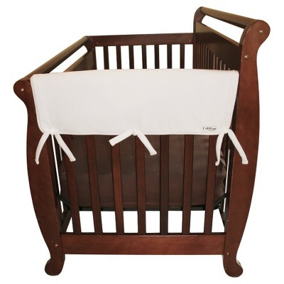Trend Lab Set of Two Fleece 27  Side Rail Cover for Convertible Crib - White