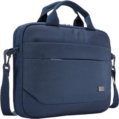"Case Logic Advantage ADVA-111 DARK BLUE Carrying Case (Attaché) for 10"" to 12"" Notebook - Dark Blue - Polyester"
