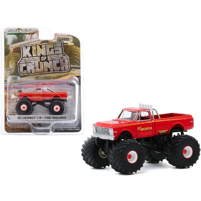 "1972 Chevrolet C-10 Monster Truck ""Texas Tumbleweed"" Orange ""Kings of Crunch"" Series 7 1/64 Diecast Model Car by Greenlight"