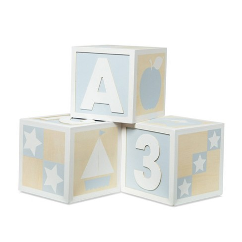 Melissa & Doug Wooden Jumbo ABC / 123 Blocks - Natural - image 1 of 4