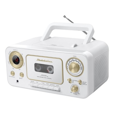 Studebaker Portable CD Player with AM/FM Radio and Cassette Player/Recorder (SB2135)