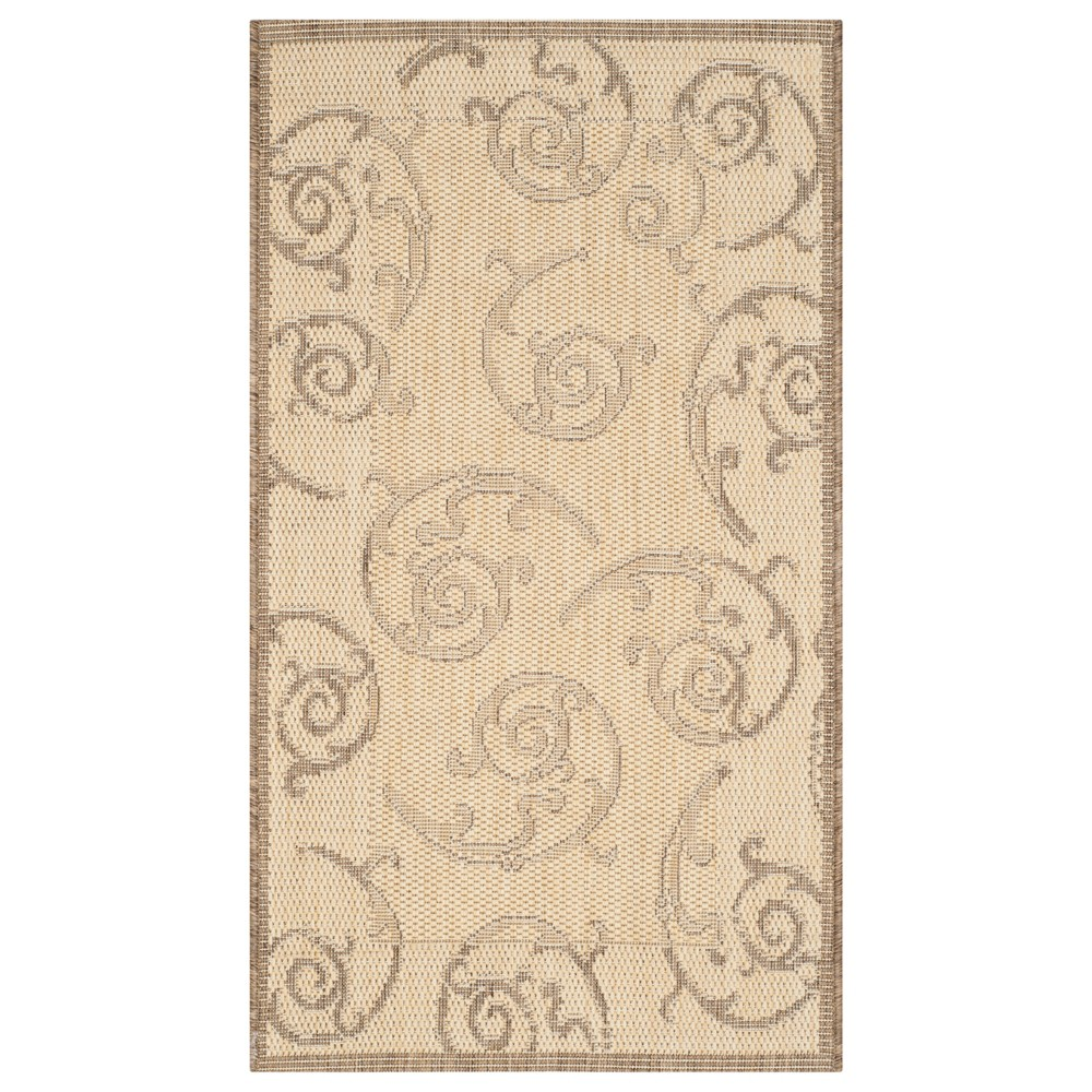 Pembrokeshire Rectangle 2' X 3'7 Outer Patio Rug - Natural / Brown - Safavieh, Natural/Brown