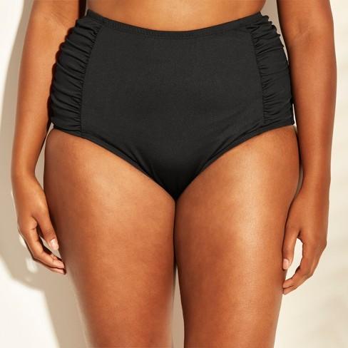 2ed45209e4 Cleanwater Women's High Waist Bikini Bottom - Black 20W : Target