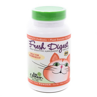 InClover Fresh Digest Daily Digestive Aid Powder for Cats - Natural -  3.5oz