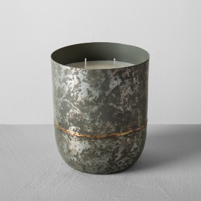 Galvanized Container Candle 25oz - Teakwood Currant - Hearth & Hand™ with Magnolia