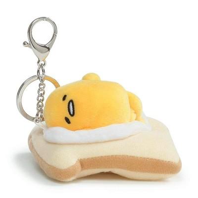 Enesco Gudetama the Lazy Egg On Toast 3.5-Inch Plush Keychain