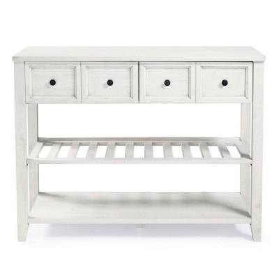 "48"" Solid Wood 2 Drawer Buffet White - Saracina Home"