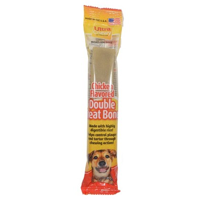 Ultra Chewy Double Bones Chicken Flavor Dry Dental Dog Treats