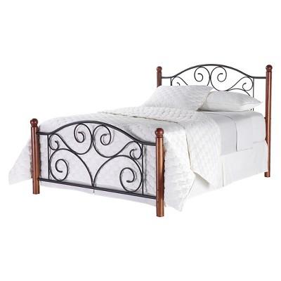 Fashion Bed Group Doral Bed - Matte Black/Walnut (King)