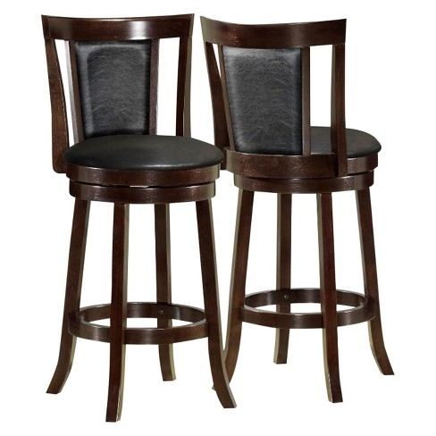 "Barstool 43""H - 2 Piece - Swivel - Cappuccino - EveryRoom - image 1 of 2"