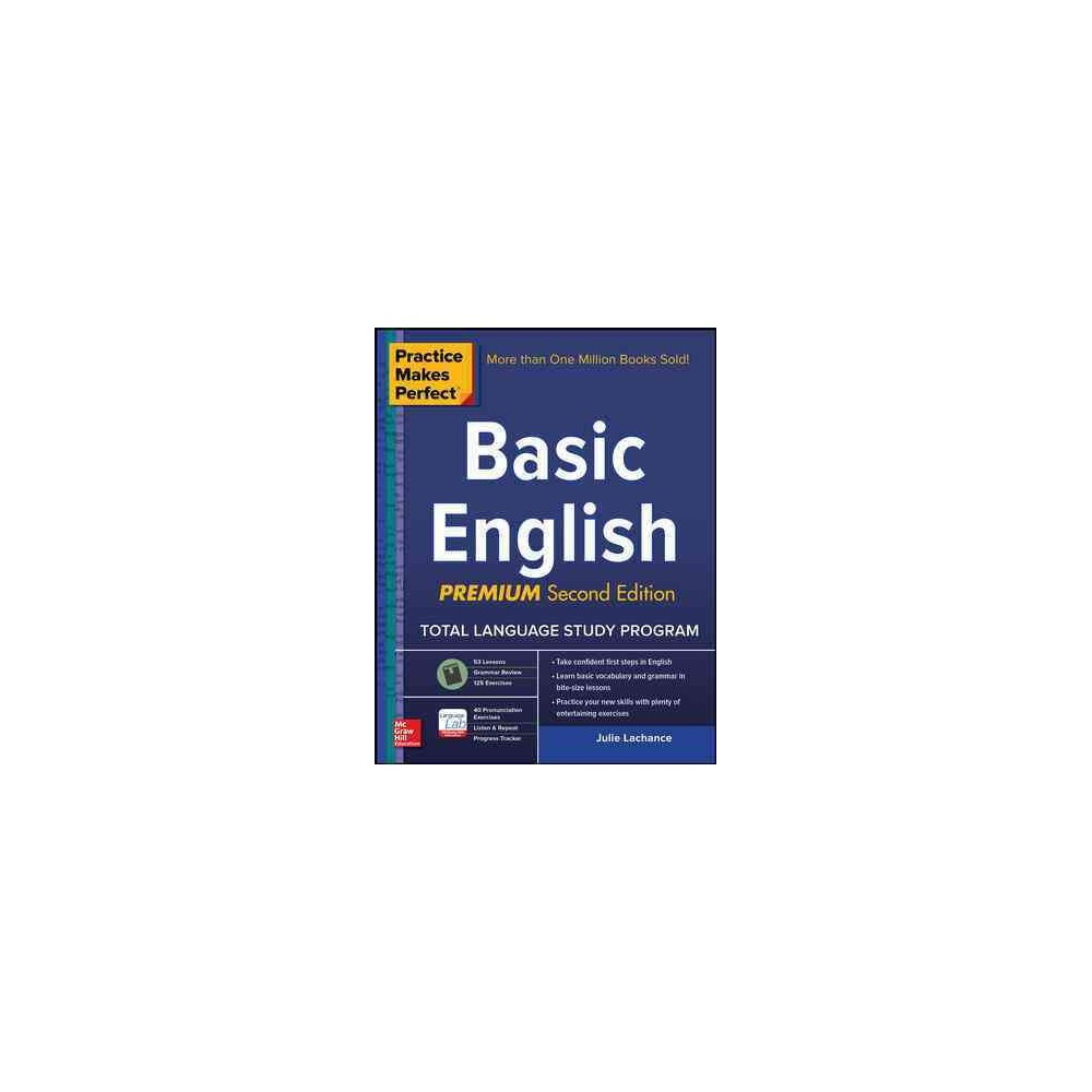 Basic English - (Practice Makes Perfect) by Julie Lachance (Paperback)