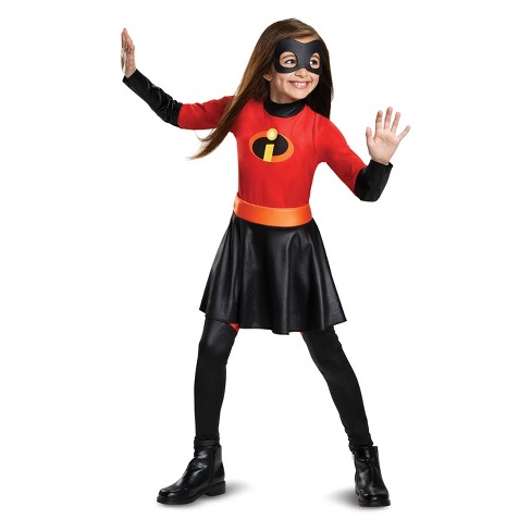 girls the incredibles violet parr halloween costume with sound