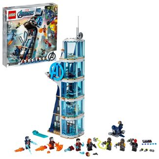 LEGO Marvel Avengers: Avengers Tower Battle Building Toy with Minifigures 76166