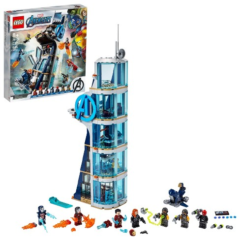 LEGO Marvel Avengers: Avengers Tower Battle Building Toy with Minifigures 76166 - image 1 of 4