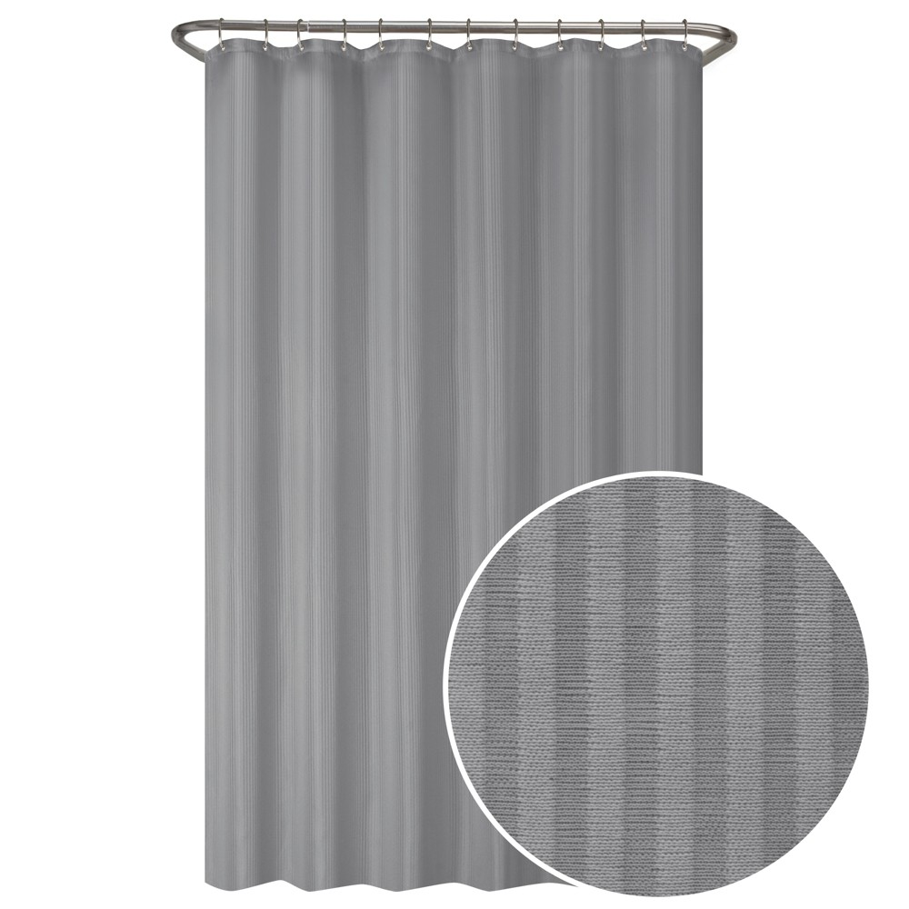 Best Discount Ultimate Striped Shower Liner Gray Maytex