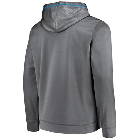 NFL Carolina Panthers Men s Geo Fuse Gray Embossed Performance Hoodie    Target 40b1d2227