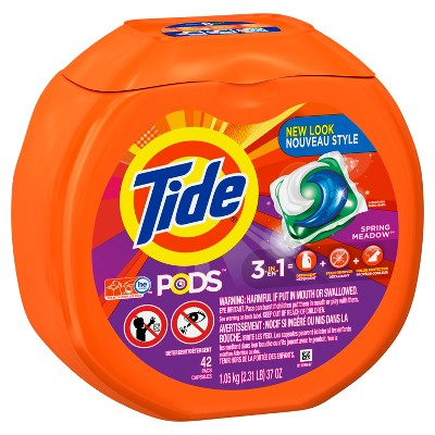 Tide PODS Spring Meadow Liquid Laundry Detergent Pods - 42ct