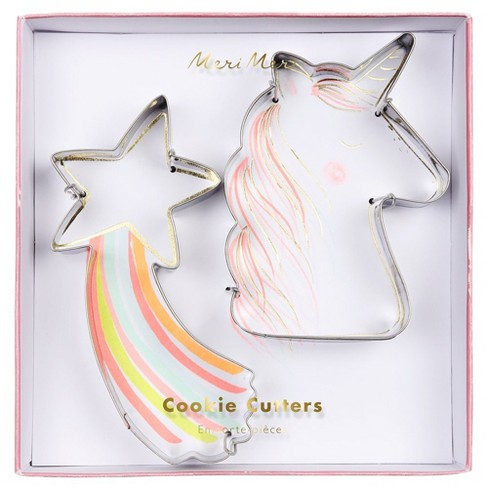 Meri Meri - Star & Unicorn Cookie Cutters - Cookie Cutters - 2ct - image 1 of 1