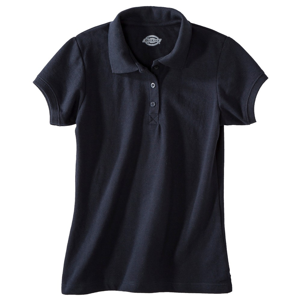 Dickies Girls' Pique Uniform Polo Shirt - Dark Navy M