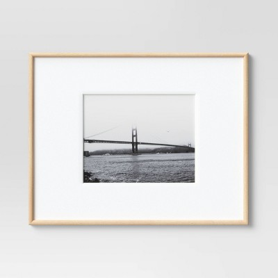 """8"""" x 10"""" Matted Narrow Rounded Gallery Frame Mid-Tone Natural - Project 62™"""