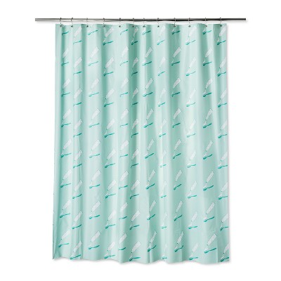 Product Logo Shower Curtain Spearmint Green - Room Essentials™