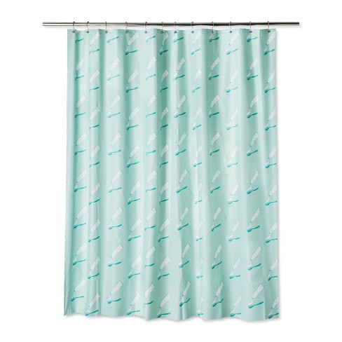 Product Logo Shower Curtain Spearmint Green - Room Essentials™ - image 1 of 1