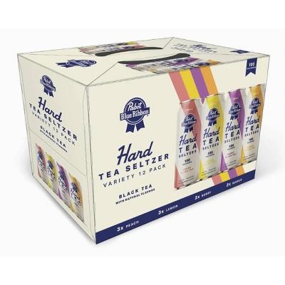 Pabst Blue Ribbon Hard Tea Seltzer Variety Pack - 12pk/12 fl oz Slim Cans