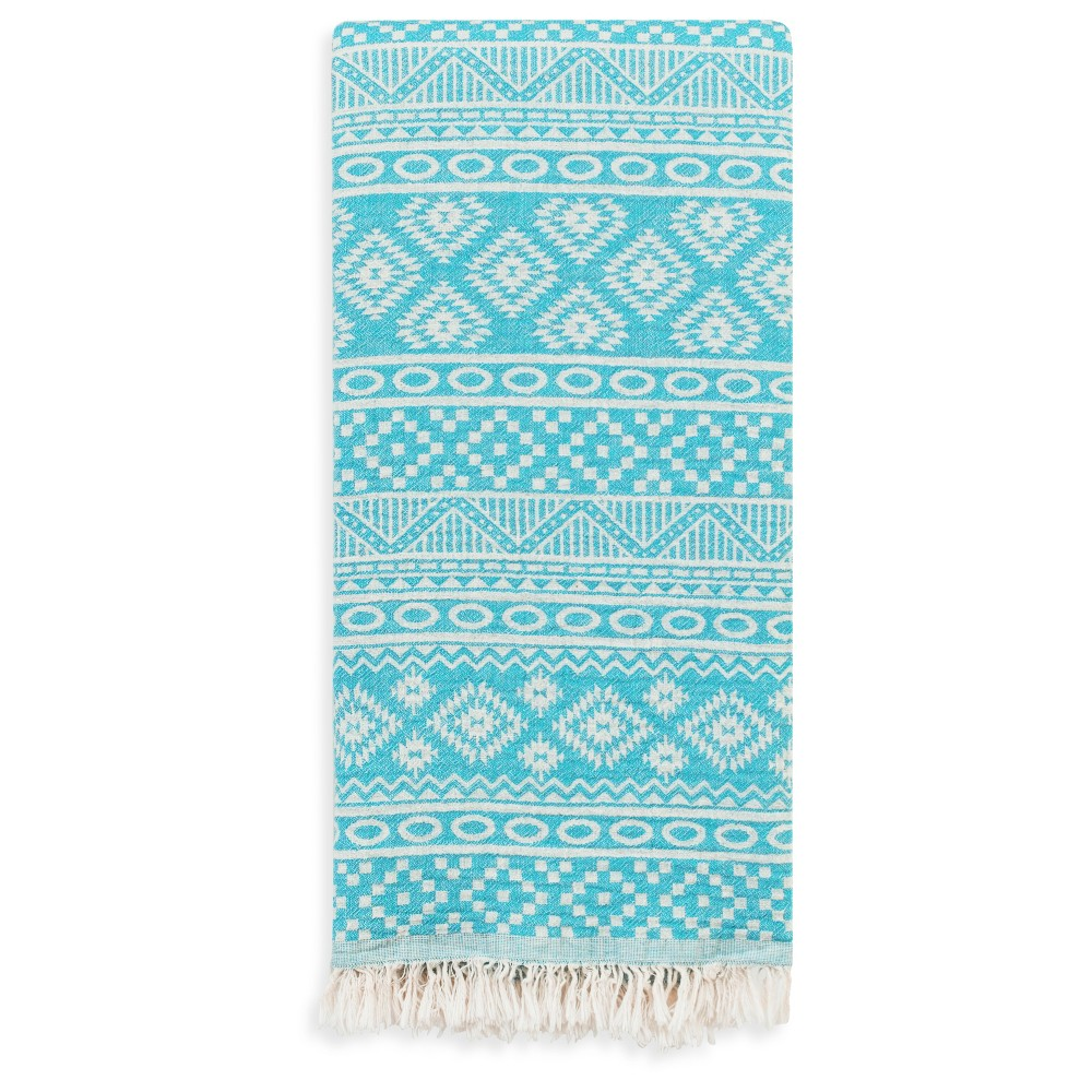 Sea Breeze Pestemal Beach Towel Turquoise - Linum Home Textiles