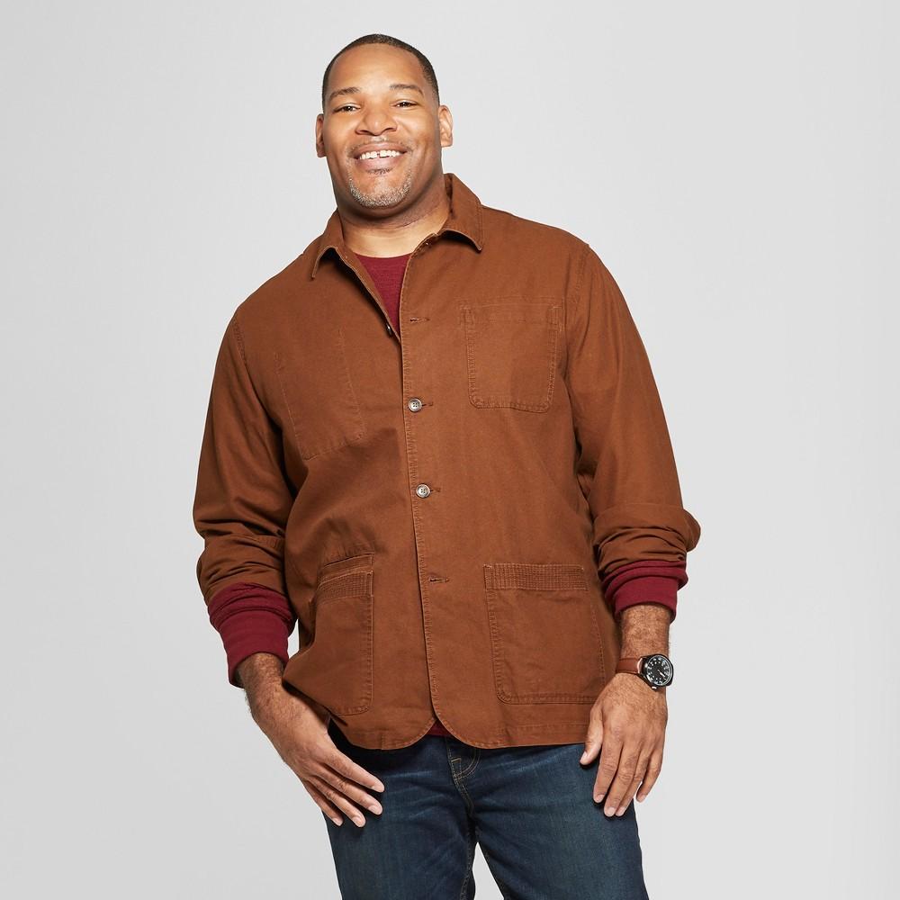 Men's Tall Canvas Chore Blazer - Goodfellow & Co Stick Brown LT