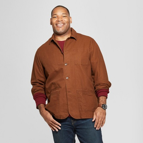 Men's Big & Tall Canvas Chore Blazer - Goodfellow & Co™ Stick Brown - image 1 of 3