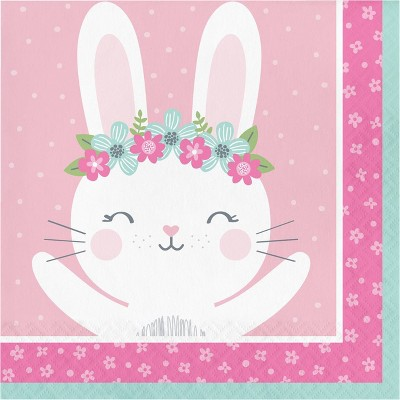 48ct Bunny Print Disposable Napkins