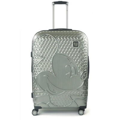 """FUL Disney Mickey Mouse Textured 29"""" Hardside Rolling Suitcase - Silver"""
