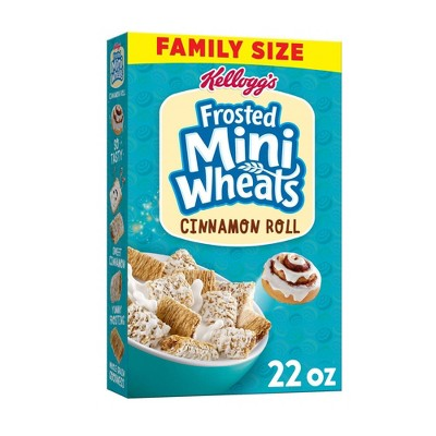 Frosted Mini Wheat Cinnamon Family Size Cereal - 22oz - Kellogg's